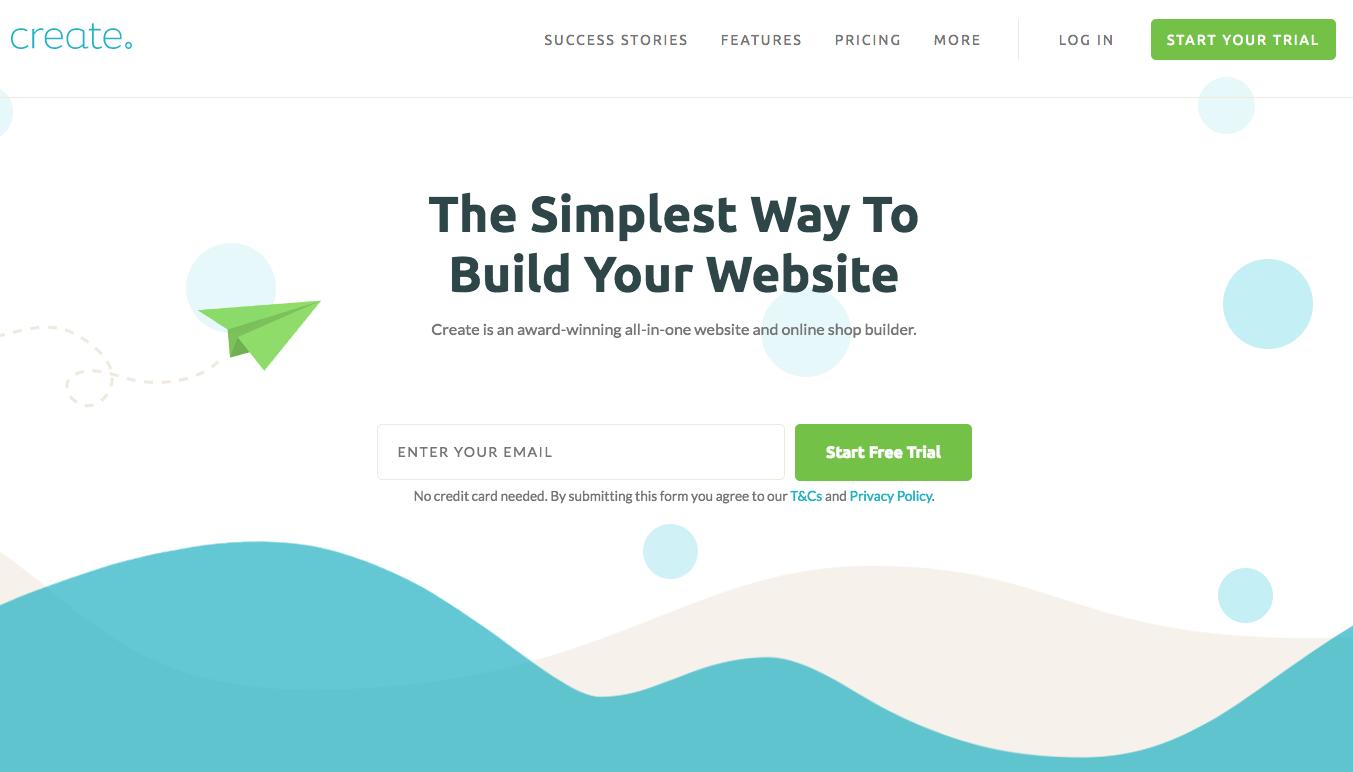 Create.net website